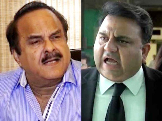 Verbal 'feud' between information minister and PM's special assistant signals rift within PTI's ranks. FILE PHOTOS