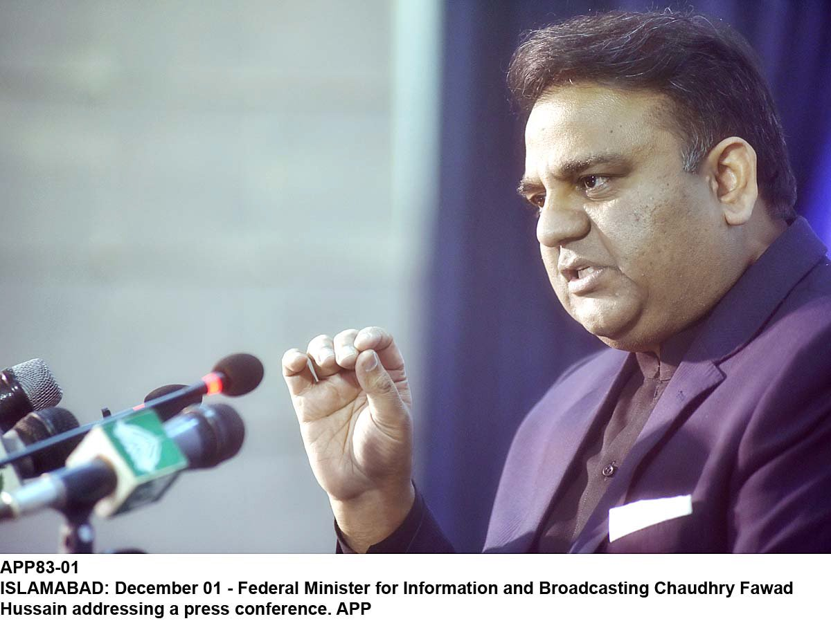 Information Minister Fawad Chaudhry. PHOTO: APP