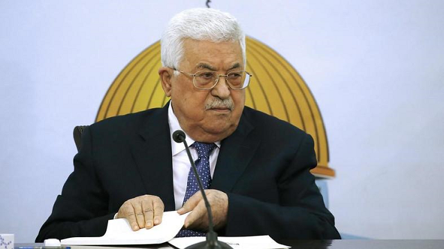 "Palestinian President Mahmoud Abbas said the change was part of President Trump's plan to ""liquidate"" the Palestinian cause. PHOTO: AFP"