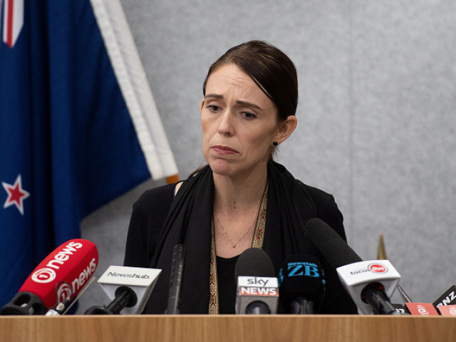 New Zealand Prime Minister Jacinda Ardern speaks to the media during a press conference at the Justice Precinct in Christchurch on March 16, 2019. PHOTO: AFP