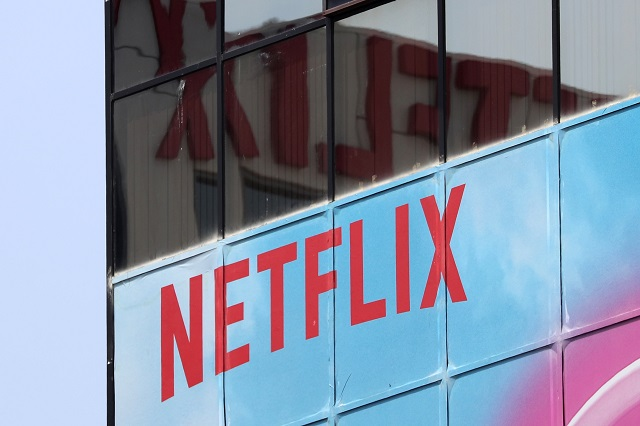 The Netflix logo is seen on their office in Hollywood, Los Angeles, California, US July 16, 2018. PHOTO: REUTERS
