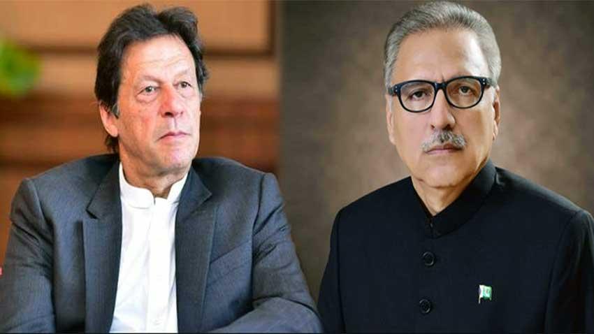 Prime Minister Imran Khan, President Arif Alvi. PHOTO: RADIO PAKISTAN
