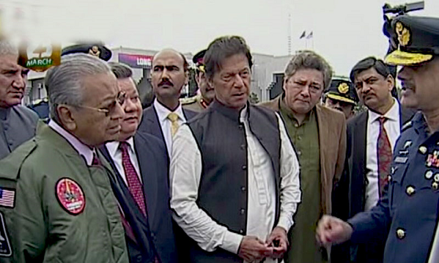 Malaysian premier was the chief guest at the Pakistan Day parade. PHOTO: RADIO PAK