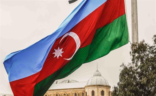 Flag of Azerbaijan. PHOTO: AFP