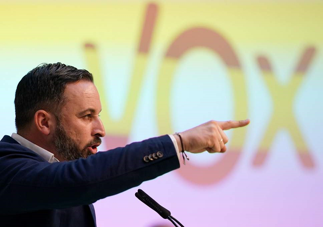 Santiago Abascal, leader of Spanish far-right party Vox. PHOTO: AFP