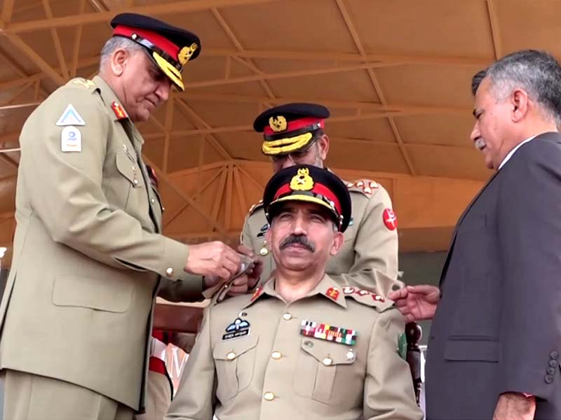 Lt General Sher Afgun installed as Colonel Commandment of AK region.PHOTO: ISPR