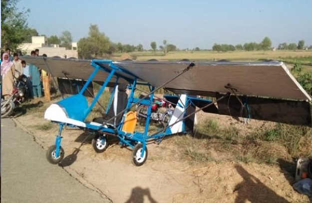 Pakistan Air Force has also praised Muhammad Fayaz for building a 'mini basic airplane'. PHOTO: Twitter