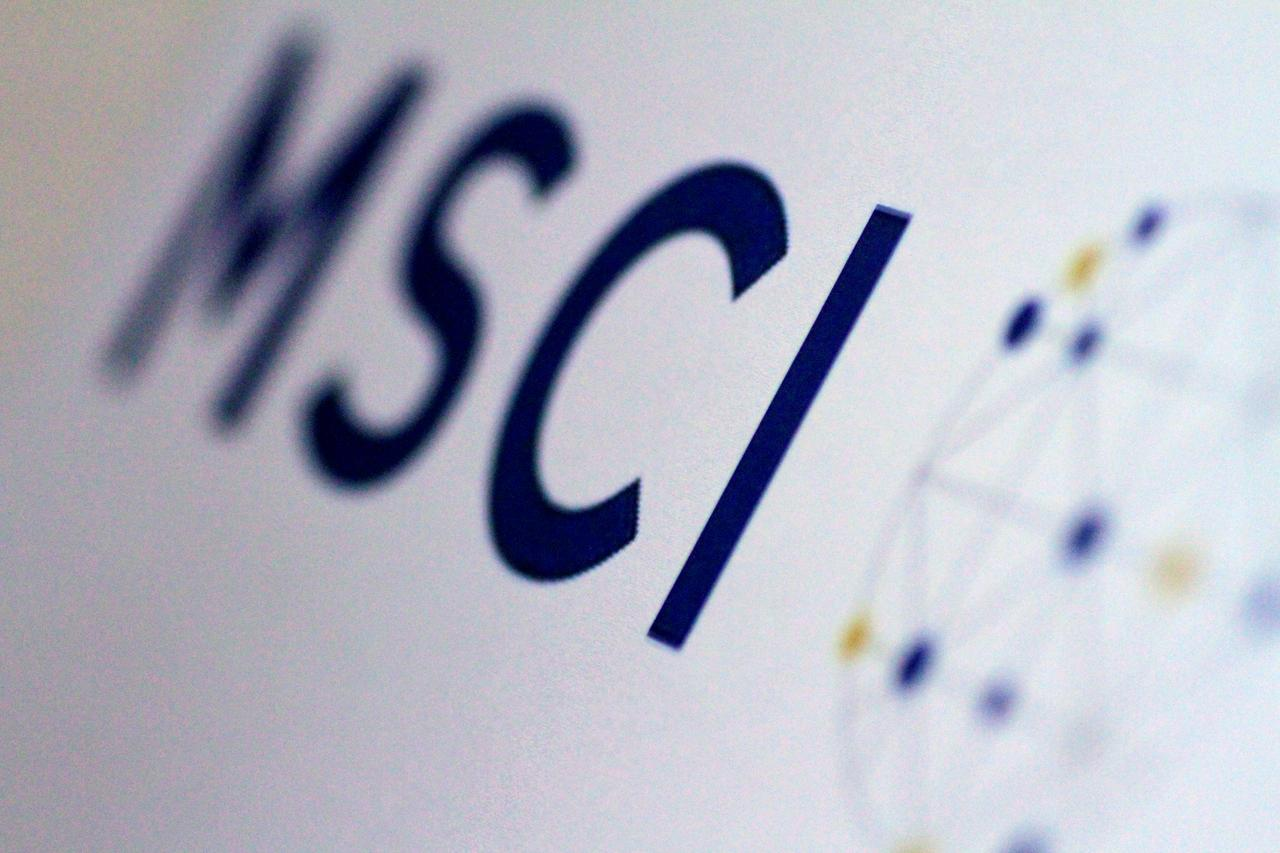 The MSCI logo is seen in this June 20, 2017 illustration photo. PHOTO: REUTERS