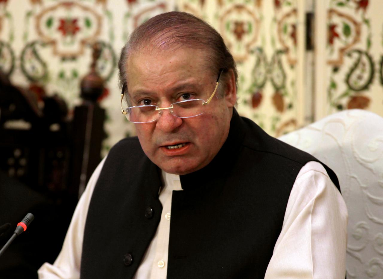 A file photo of former prime minister Nawaz Sharif. PHOTO: PID