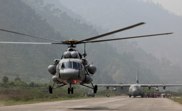 File photo of MI-17. PHOTO: AFP