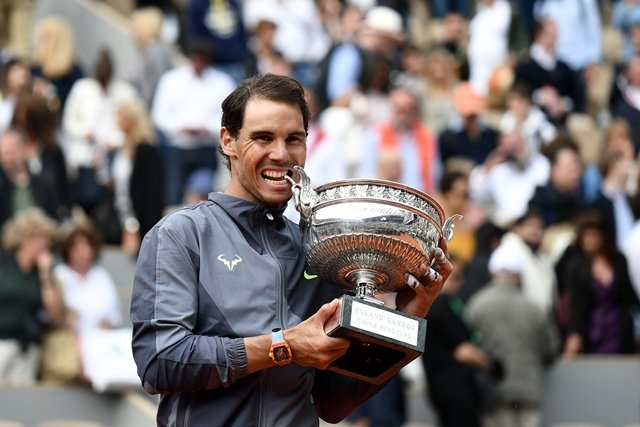 The world number two also took his Paris record to an astonishing 93 wins and just two losses having previously won the title in 2005-2008, 2010-2014, 2017 and 2018. PHOTO: AFP