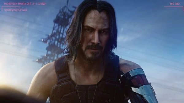 Keanu Reeves character, Johnny Silverhand, in Cyberpunk 2077. PHOTO: MICROSOFT