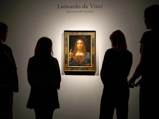 """Since its sale for a record $450 million, the whereabouts of the """"Salvator Mundi,"""" said to be painted by Leonardo da Vinci, has become one of the art world's greatest mysteries. Photo: AFP"""