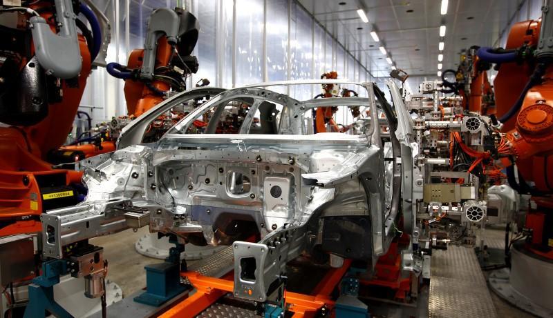 A car manufacturering plant. PHOTO: REUTERS