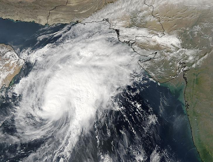 Cyclone Vayu is 700 kilometres away from Karachi with the port city under no threat: PMD. PHOTO: REUTERS/FILE