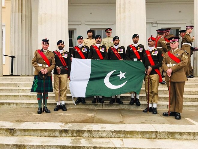 Pakistan Army team has been the winner of Pace Sticking Competition for the second consecutive year. PHOTO: ISPR
