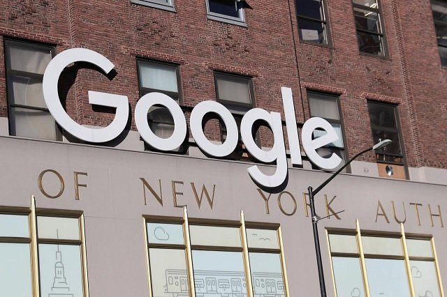 Google signage is seen at the Google headquarters in the Manhattan borough of New York City, New York, US, December 19, 2018. PHOTO: REUTERS
