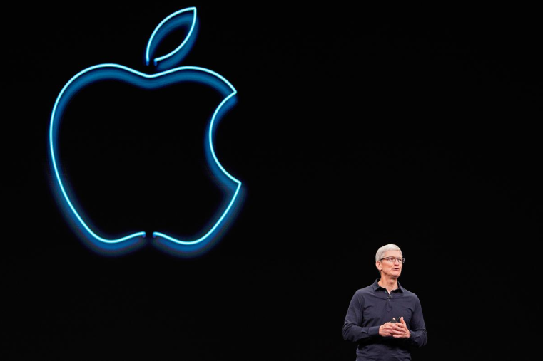 Apple CEO Tim Cook speaks during Apple's annual Worldwide Developers Conference in San Jose, California, U.S. June 3, 2019. PHOTO: REUTERS.