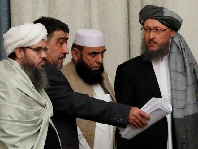 File photo of US-Taliban talks in Qatar. PHOTO: REUTERS