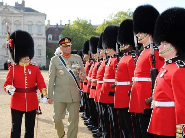 A file photo of the army chief during his visit to London last year. PHOTO: TWITTER/@OfficialDGISPR