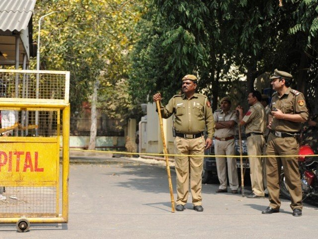A file photo of Indian police. PHOTO: AFP