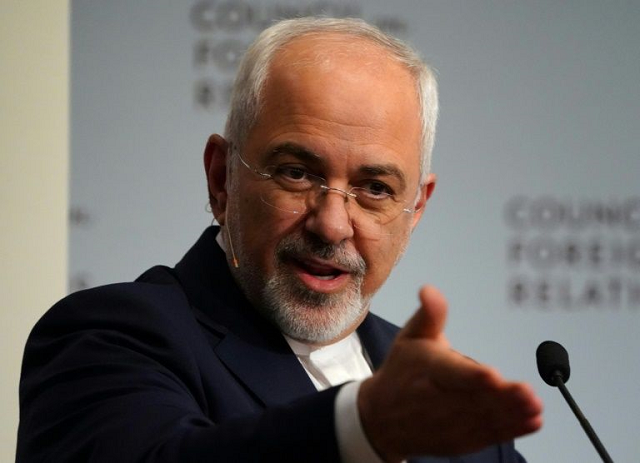 Iran's Foreign Minister Mohammad Javad Zarif, seen in this April 2018 picture, says the United States brought upon themselves the crisis in the strategic Gulf. PHOTO: AFP