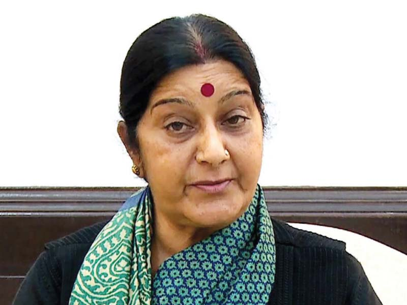 India's former External Affairs Minister Sushma Swaraj. PHOTO: FILE