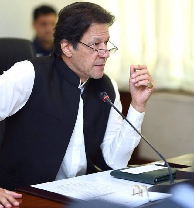 A file photo of PM Imran Khan chairing a Federal Cabinet meeting in Islamabad. PHOTO: PID