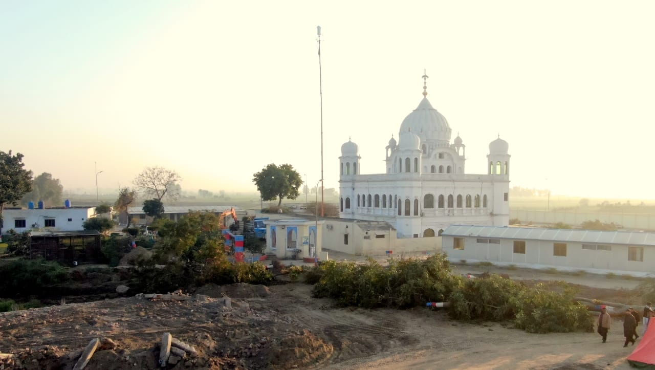 Work in progress at the Kartarpur Corridor. PHOTO: FOREIGN OFFICE