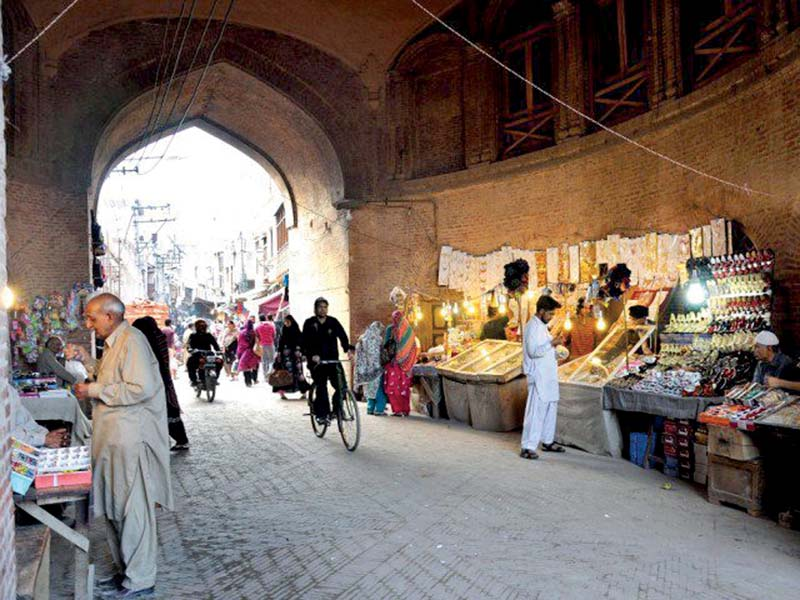 A view of the Delhi Gate in the Walled City, Lahore. PHOTO: EXPRESS