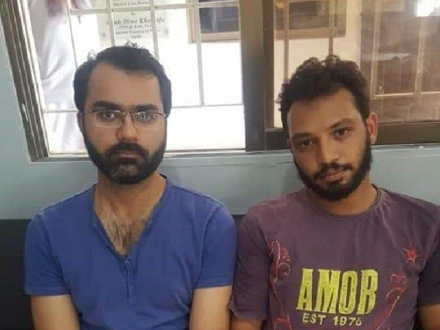 Daniyal and Zubair are the two main accused in the lynching of 17-year-old Rehan. PHOTO: TWITTER
