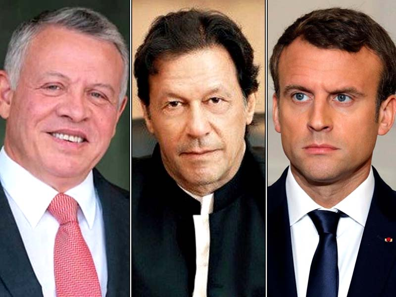 President Macron, King Abdullah II underline importance of resolving all issues peacefully. FILE PHOTOS