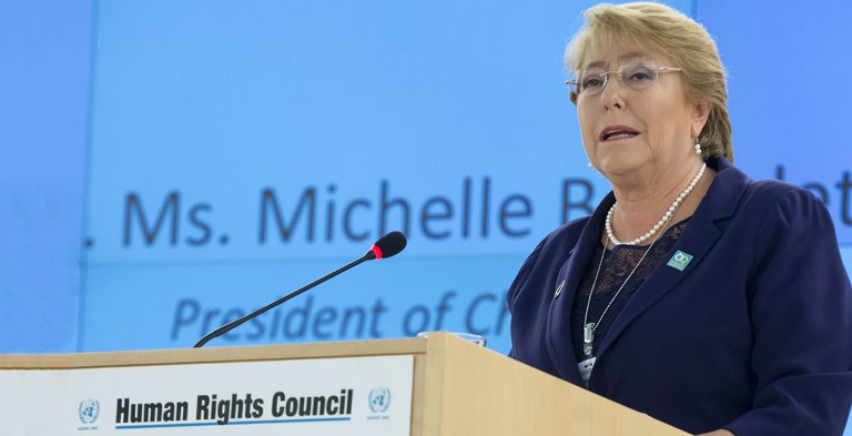 UN High Commissioner on Human Rights Michelle Bachelet. Picture Coutesy UN News