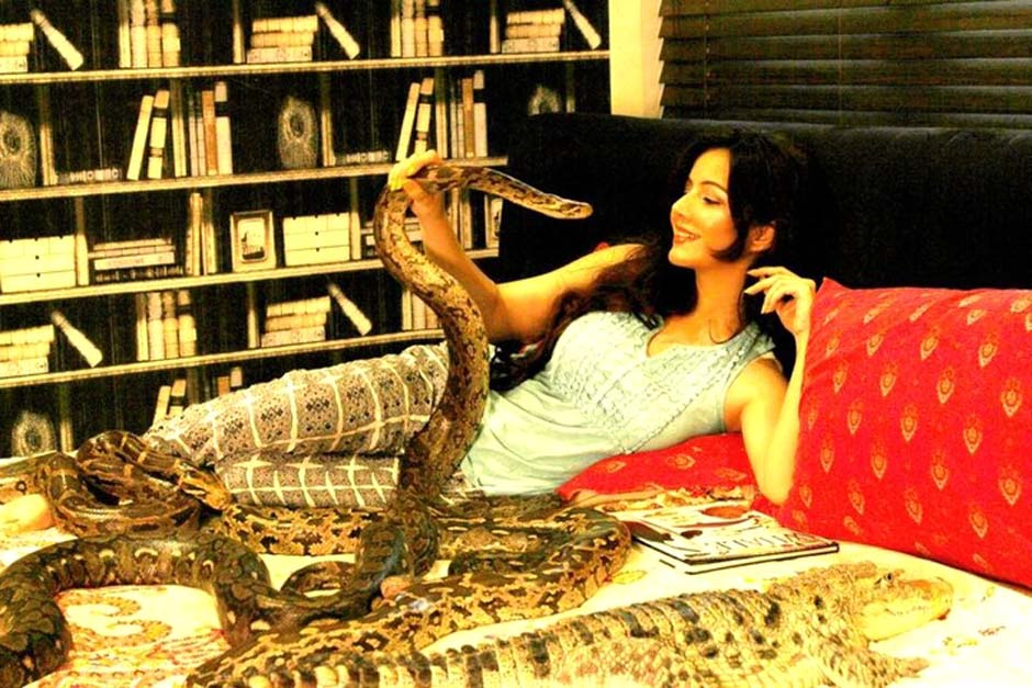 Pirzada previously claimed that her love for snakes is more than just a hobby for her. PHOTO COURTESY: RABI PIRZADA/SOCIAL MEDIA