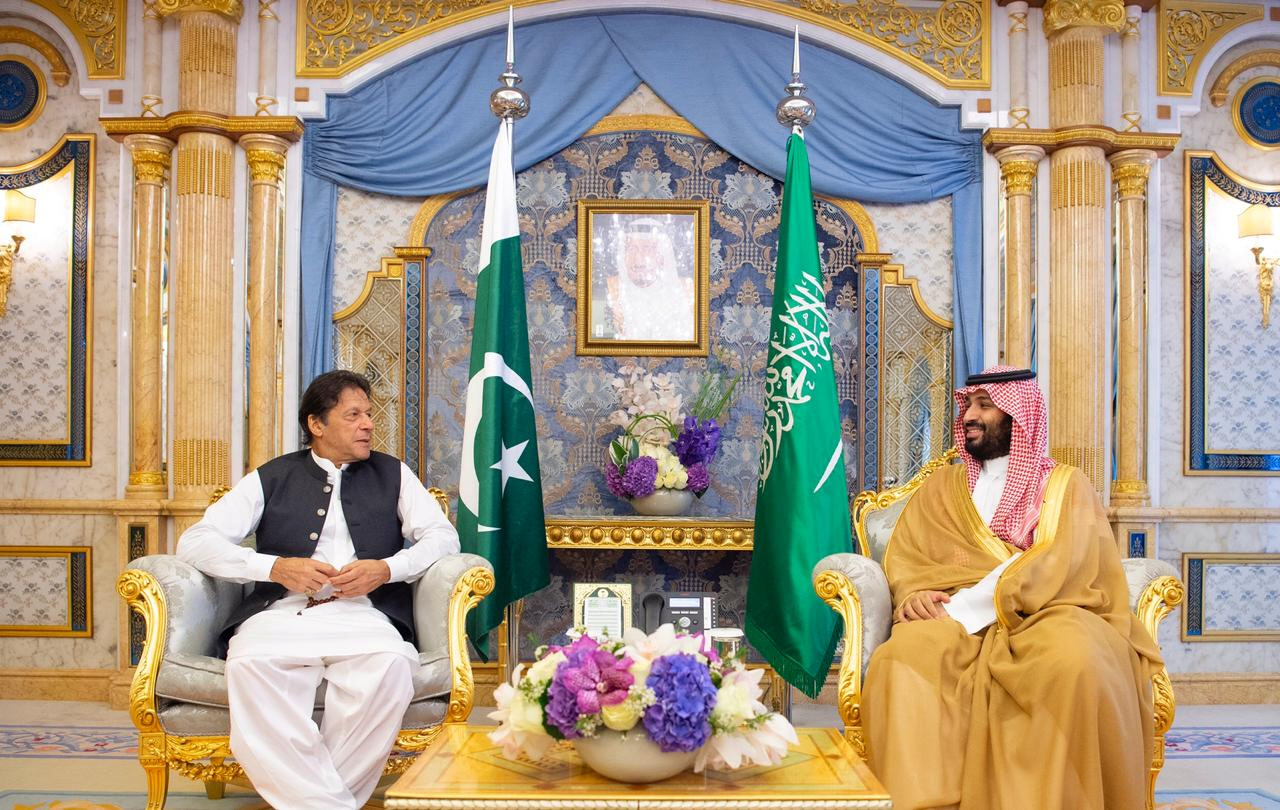 PM Imran Khan with Saudi Crown Prince Mohammad bin Salman. PHOTO: PTI