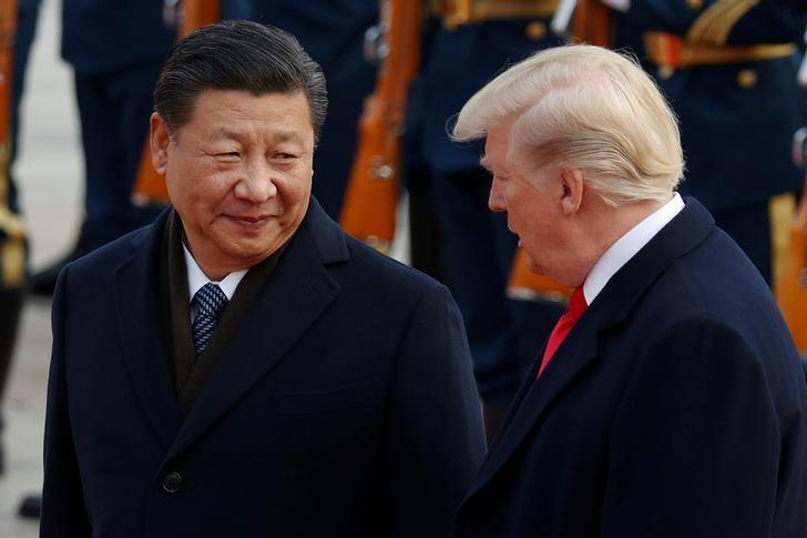A file photo of Chinese President Xi Jinping with US President Donald Trump. PHOTO: REUTERS