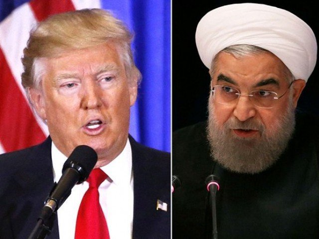 US President Donald Trump and Iranian President Hassan Rouhani. PHOTO: FILE
