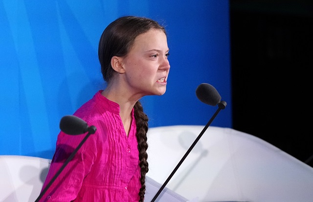 16-year-old Swedish Climate activist Greta Thunberg speaks at the 2019 United Nations Climate Action Summit at UN headquarters in New York City, New York, US, September 23, 2019. PHOTO: REUTERS