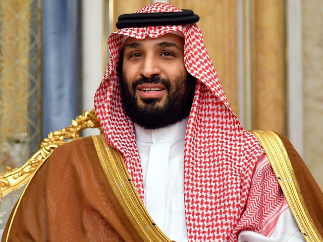 Saudi Arabia's Crown Prince Mohammed bin Salman attends a meeting with US Secretary of State Mike Pompeo in Jeddah, Saudi Arabia, September 18, 2019. PHOTO: REUTERS/FILE