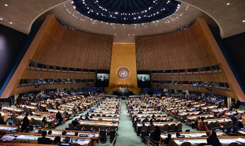 The United Nations General Assembly. PHOTO: AFP