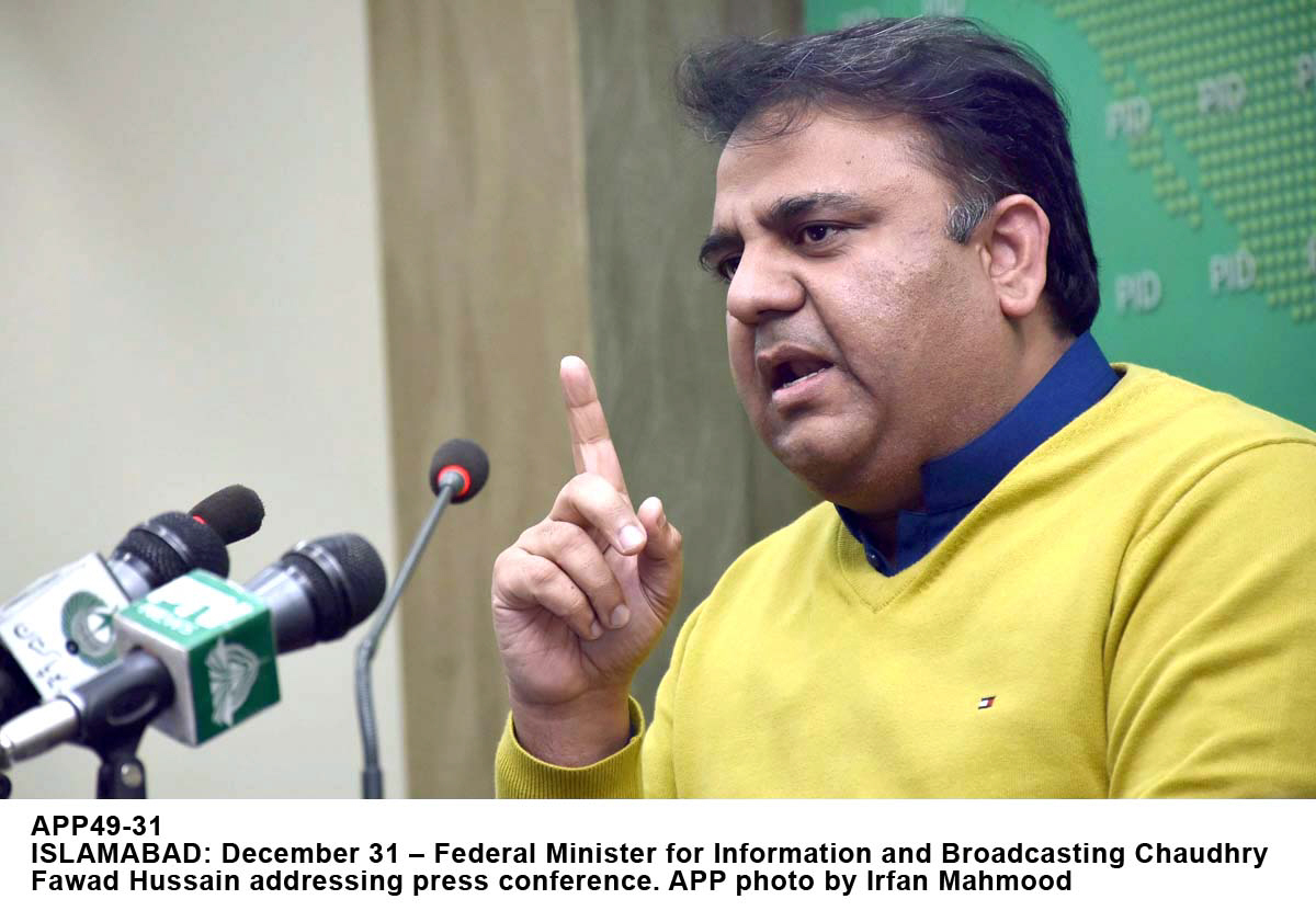 File photo of Fawad Chaudhry. PHOTO: APP