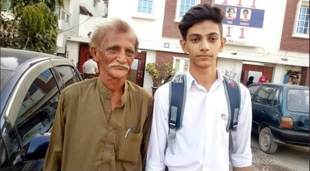 Anas Habib with his father Muhammad Habib. PHOTO: TWITTER/(@AbulAzizNoman)