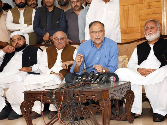 Rahbar Committee members holding a news conference. PHOTO: FILE