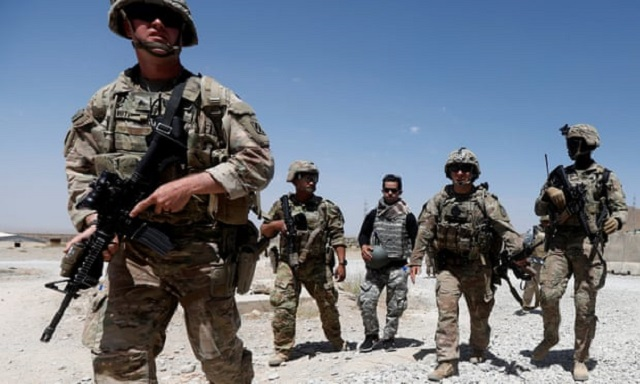 US Forces-Afghanistan spokesperson Colonel Sonny Leggett said the US now has around 13,000 troops in the country. PHOTO: REUTERS/FILE