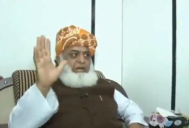 JUI-F chief Maulana Fazlur Rehman. SCREEN GRAB