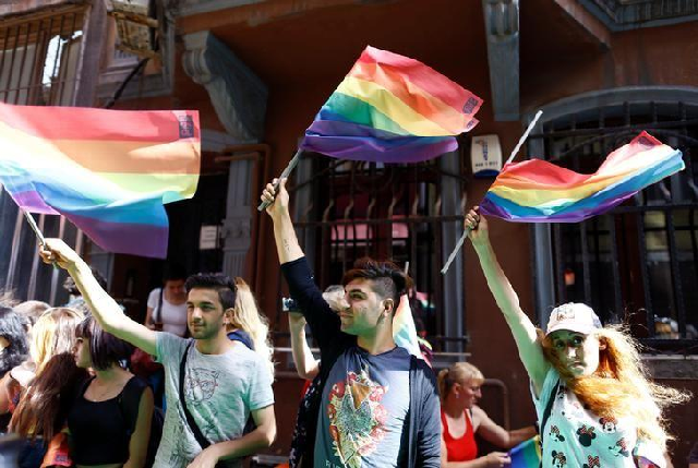 Pride march in Turkey. PHOTO: Reuters