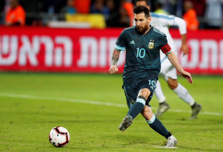 The crowd cheered the Barca star throughout and it was the forward who helped his side draw level in the 63rd minute. PHOTO: AFP
