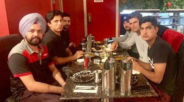 The benign gesture of cricketers heaps praises on social media. PHOTO: SOCIAL MEDIA