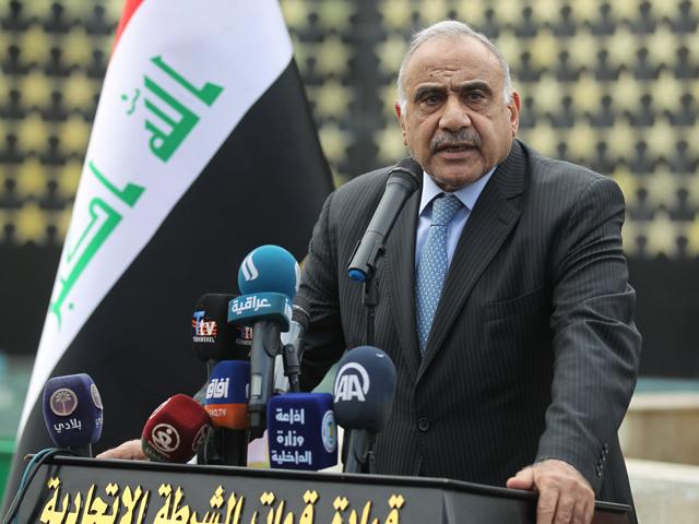 Iraq's former prime minister Adel Abdel Mahdi. PHOTO: AFP