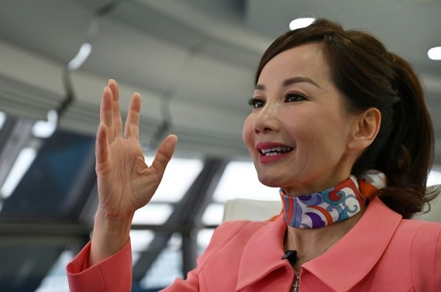 As a working mother, Jane Sun, the head of Chinese travel giant Trip.com, says she understands the challenges faced by many women in China, whose participation in the labour force has been falling for decades. PHOTO: AFP